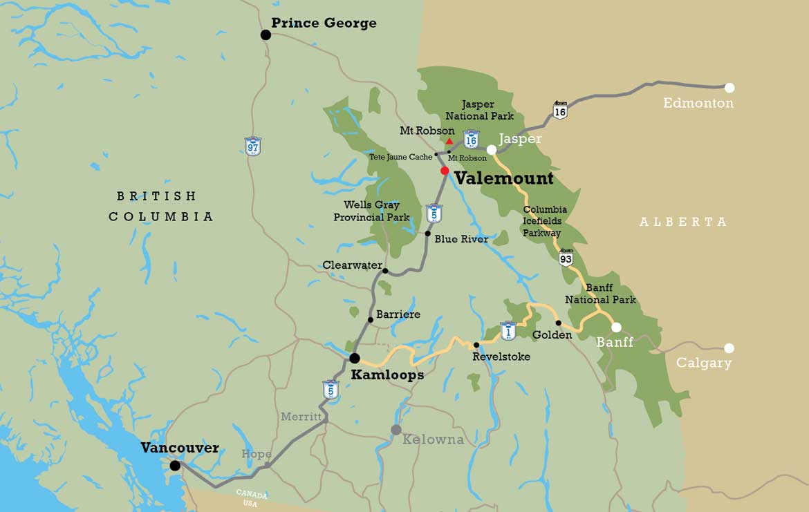 Valemount College location map