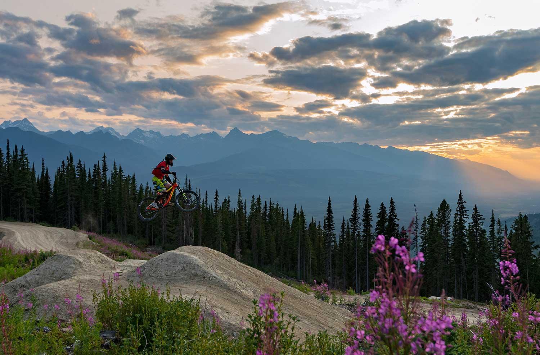 Mountain biking at Valemount