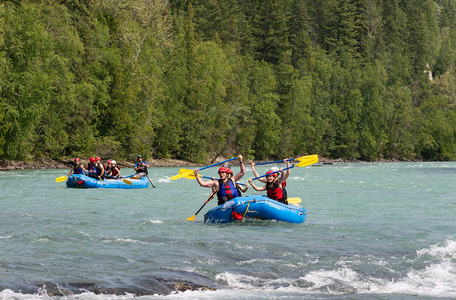 Rafting the Fraser River near Valemount